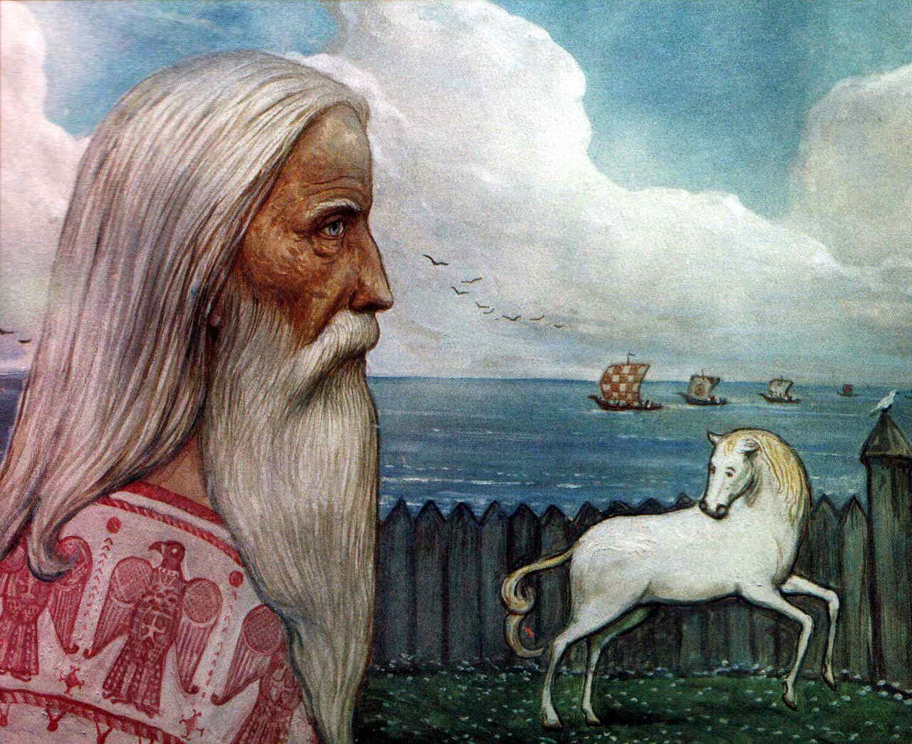 Происхождение коня на картине Глазунова